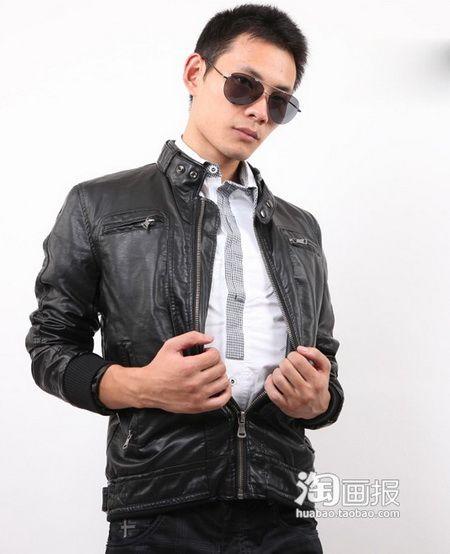 帅哥最爱皮夹克搭配 超有男人味